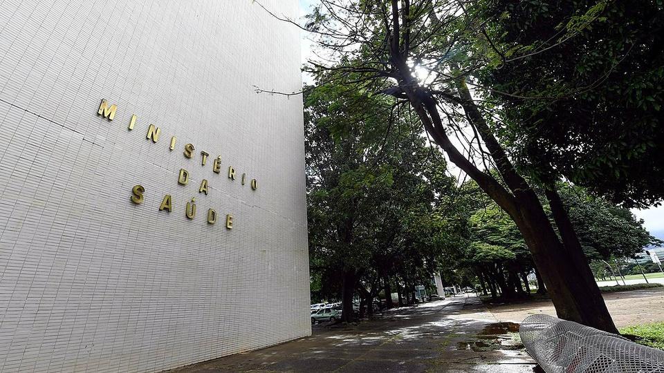 Ministério da Saúde: imagem mostra a fachada do prédio do Ministério da Saúde