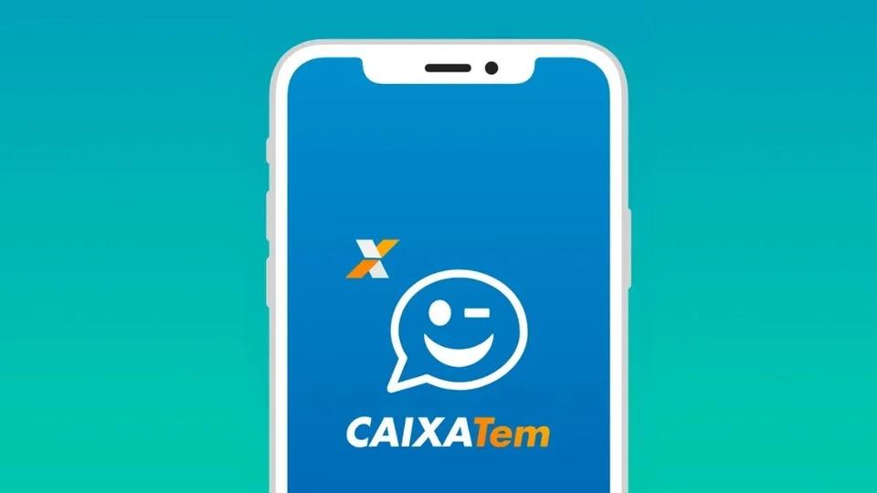 Transferir auxílio emergencial pelo Caixa Tem: tela de celular em que a página inicial do aplicativo Caixa Tem está aberta