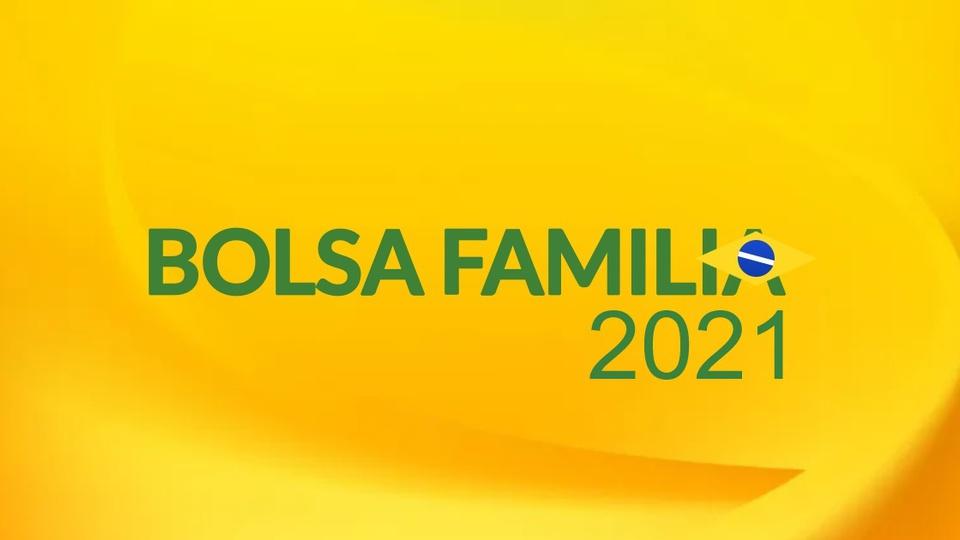 Bolsa Família 2021: logo do Bolsa Família em fundo amarelado
