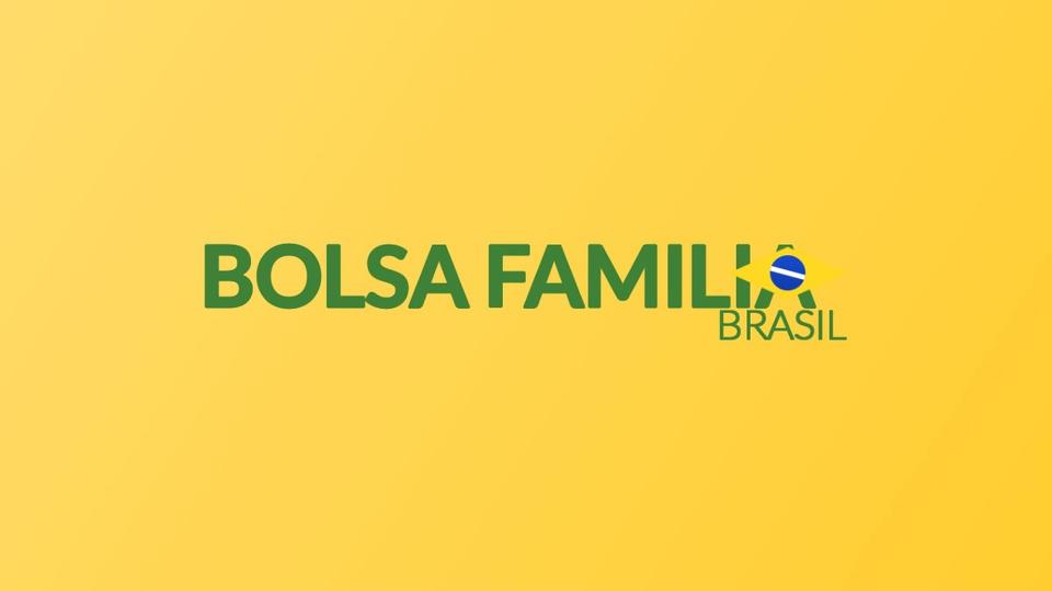 Contas digitais para Bolsa Família: logo do Bolsa Família em fundo amarelado