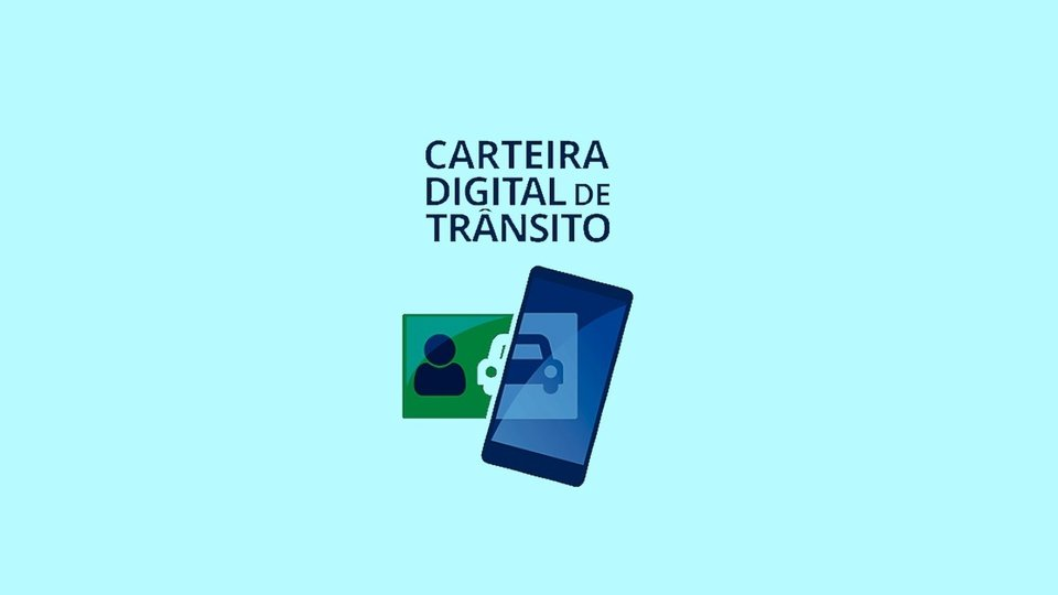Saiba como tirar a sua CNH Digital: página inicial do aplicativo da Carteira Digital de Trânsito, com fundo claro e esverdeado
