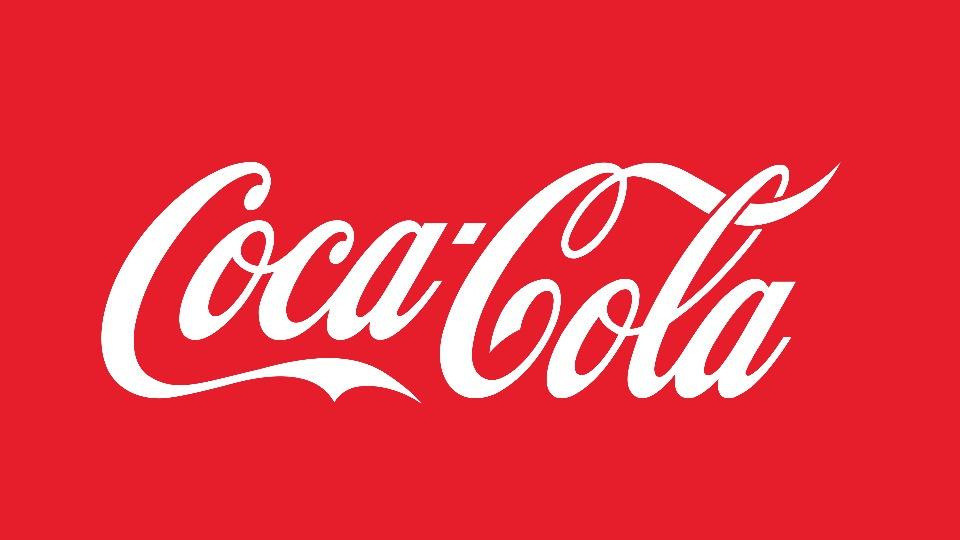 Vagas de estágio na Coca-Cola 2021: logo da Coca-Cola em fundo avermelhado