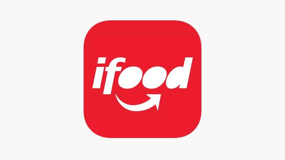 Como pagar o iFood com Pix; logo do iFood