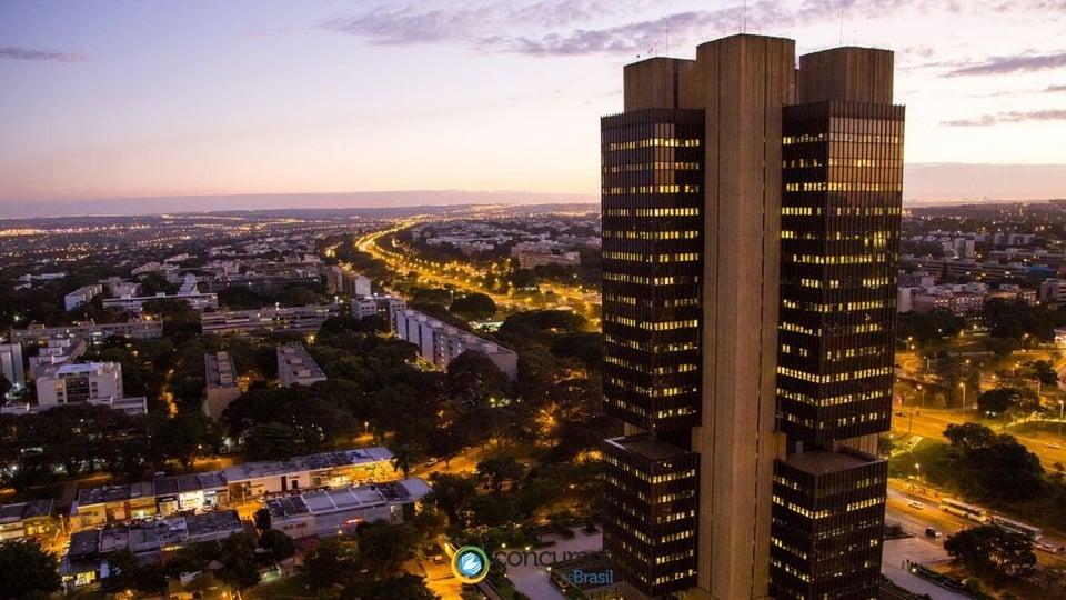 Concurso Bacen: a foto mostra o edifício sede do Banco Central do Brasil