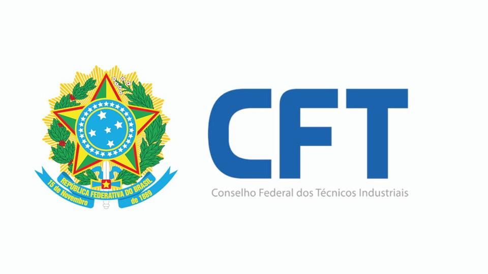concurso cft: a imagem mostra o brasão da república federativa do brasil ao lado do escrito, em azul, CFT