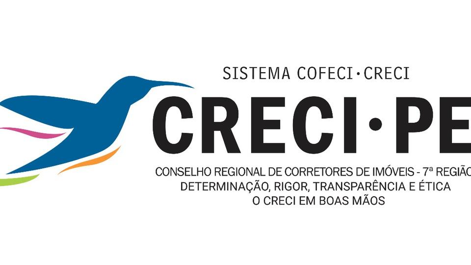 Concurso CRECI PE: logo do CRECI PE em fundo branco
