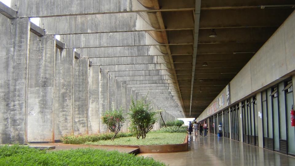 Concurso FUB: a foto mostra a logomarca da Universidade de Brasília