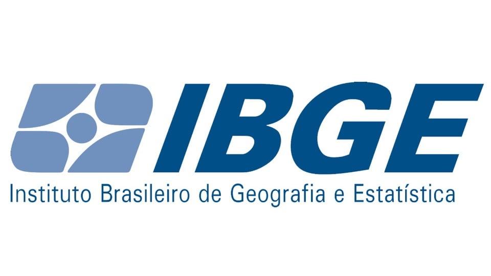 Cargo de Recenseador do IBGE 2021: logo do IBGE em fundo branco