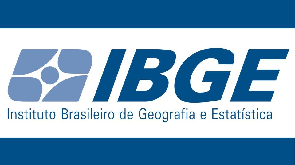 concurso IBGE codificador censitário: a imagem mostra a logo do IBGE em fundo branco com faixas azul acima e abaixo