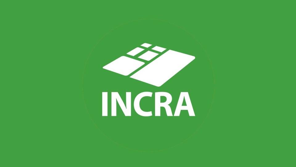 concurso incra: a imagem mostra a logo do Incra em cor branca sobre um fundo verde