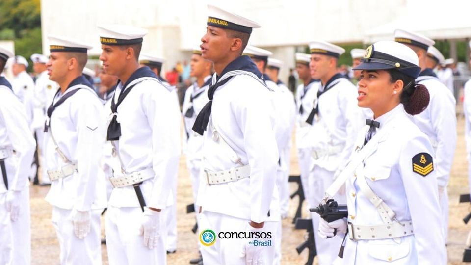 Concurso Corpo Auxiliar de Praças Marinha: marinheiros em formação