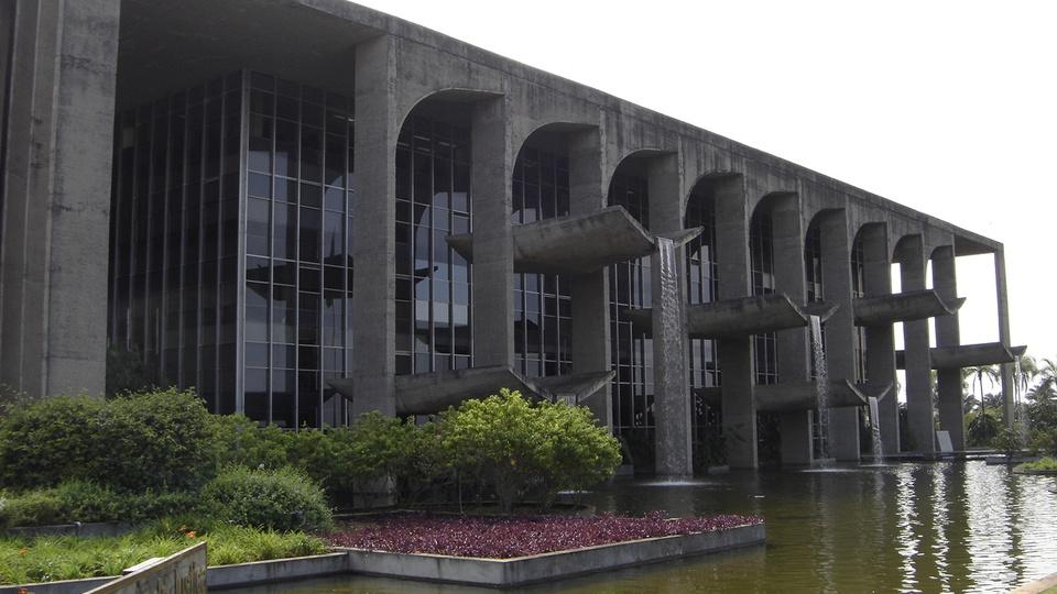 concurso ministério da justiça - a foto mostra o Palácio da Justiça, Brasília, Brasil.
