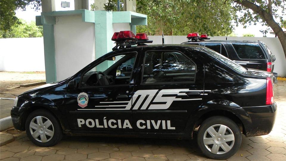 Concurso PC MS: a imagem mostra um veículo oficial da Polícia Militar do Estado de Mato Grosso do Sul