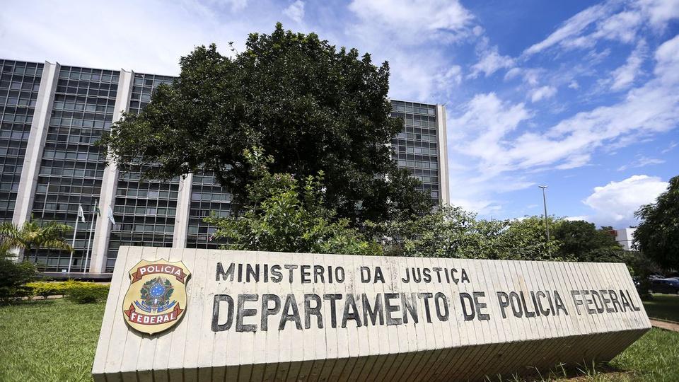 concurso pf: a imagem mostra a fachada do prédio do ministério de segurança pública