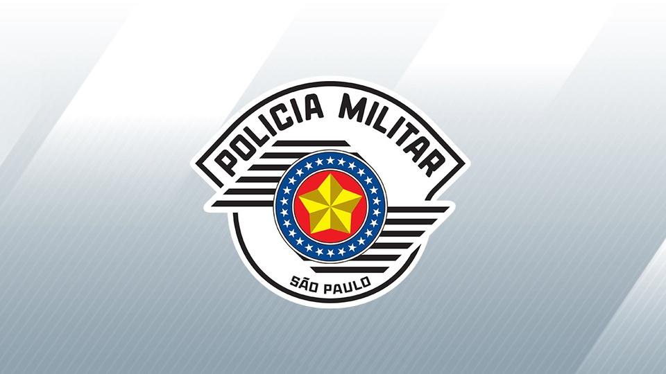 Gabarito Aluno-Oficial PM SP 2021: logo da Polícia Militar do Estado de São Paulo em fundo acinzentado