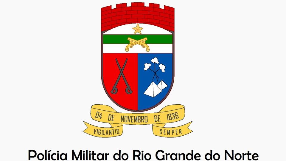 Concurso PM RN: a imagem mostra o brasão da policia militar do rio grande do norte