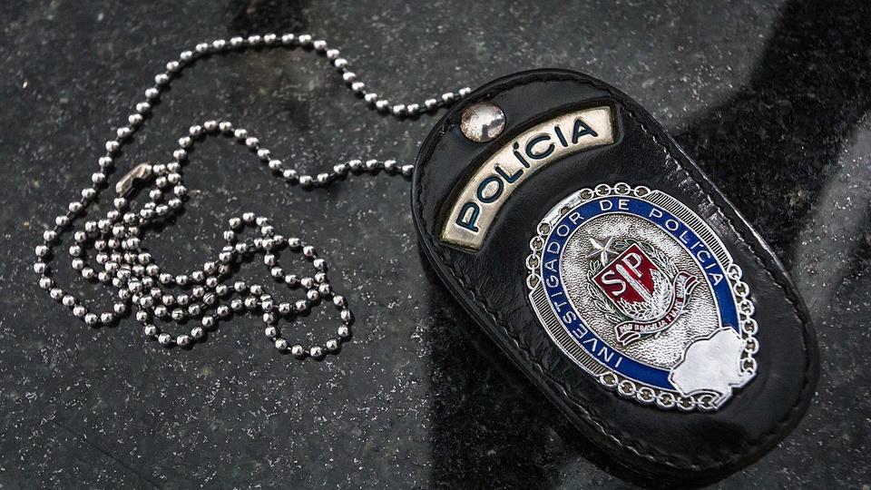 Concurso PC SP: a foto mostra o distintivo da Polícia Civil do Estado de São Paulo, a PC SP