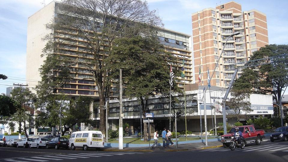 Concurso Prefeitura de Marília - SP: fachada da Prefeitura de Marília, estado de São Paulo