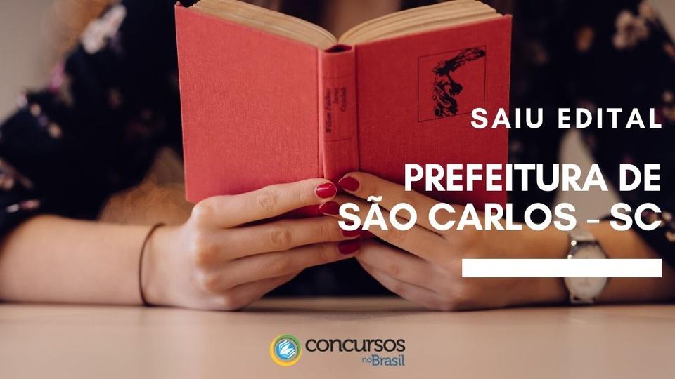 concurso prefeitura de sao carlos - sc
