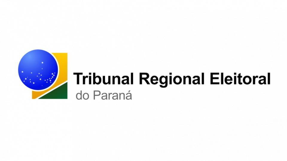 Concurso TRE PR: logo do Tribunal Regional Eleitoral do Paraná em fundo branco