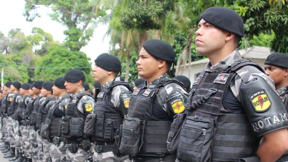 Concursos PM PA e PC PA seguem previstos para 2021: fileira de policiais militares do Pará