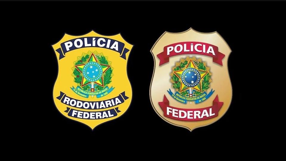Concursos PRF e PF NÃO cairão nas mesmas datas; logos da PRF e da PF