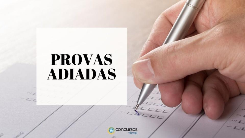 concursos suspensos cancelados no brasil coronavírus