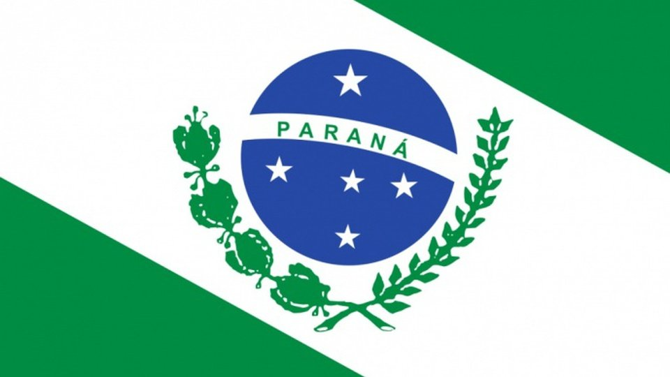 vagas de estágio no cide - a foto mostra a bandeira do estado do paraná