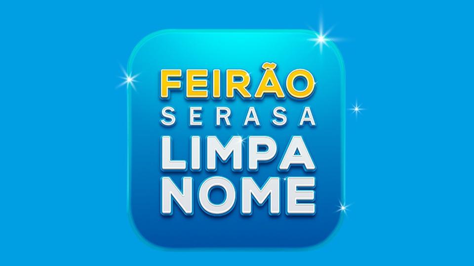 serasa limpa nome: a foto mostra a logo da campanha para quitação de dívidas junto ao serasa