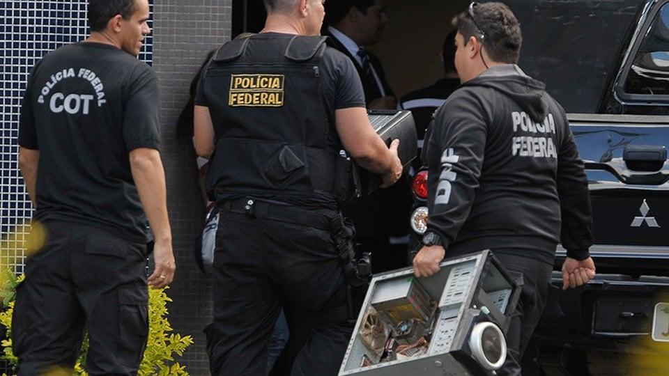 Resultado provas PF: agentes da PF durante operação