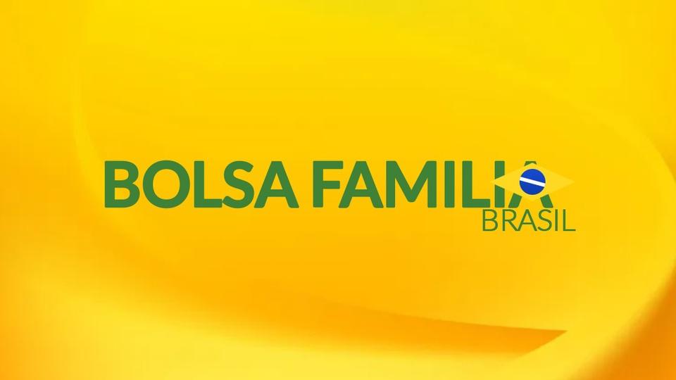 Valor de R$ 600 para Bolsa Família: logo do Bolsa Família em fundo amarelado