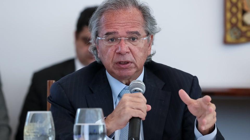 Guedes: discussões sobre o Renda Cidadã só após as eleições, Paulo Guedes falando