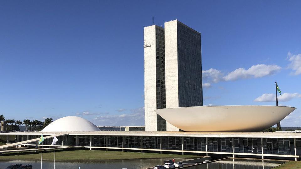 vagas previstas em novos concursos na Lei orçamentária 2021: fachada do Congresso Nacional