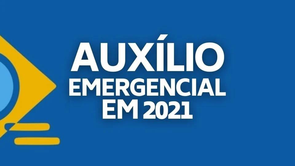 Aprovado pode deixar de receber auxílio emergencial 2021: montagem com logo do auxílio emergencial. Em destaque, texto: auxílio emergencial 2021