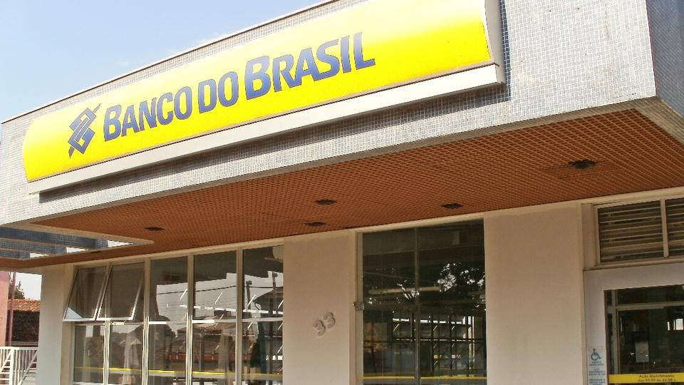 O que estudar para a prova do concurso Banco do Brasil: fachada de uma agência do Banco do Brasil, localizada em Minas Gerais