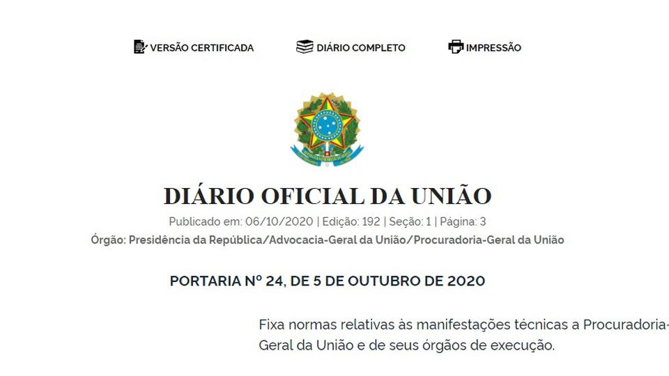 O que é o Diário Oficial, edição do Diário Oficial