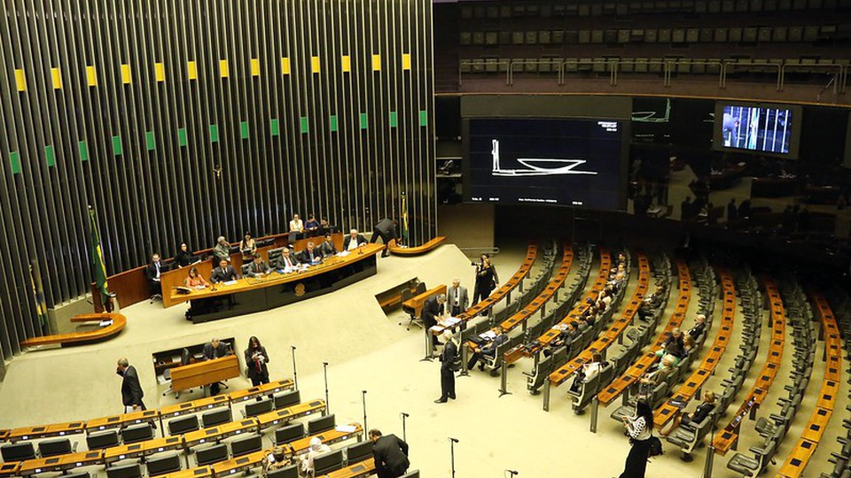 pec emergencial: a imagem mostra o ambiente interno da câmara dos deputados