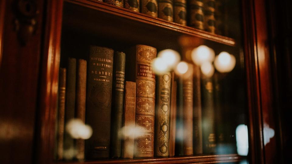 processo seletivo PGE ES: livros de Direito em uma estante