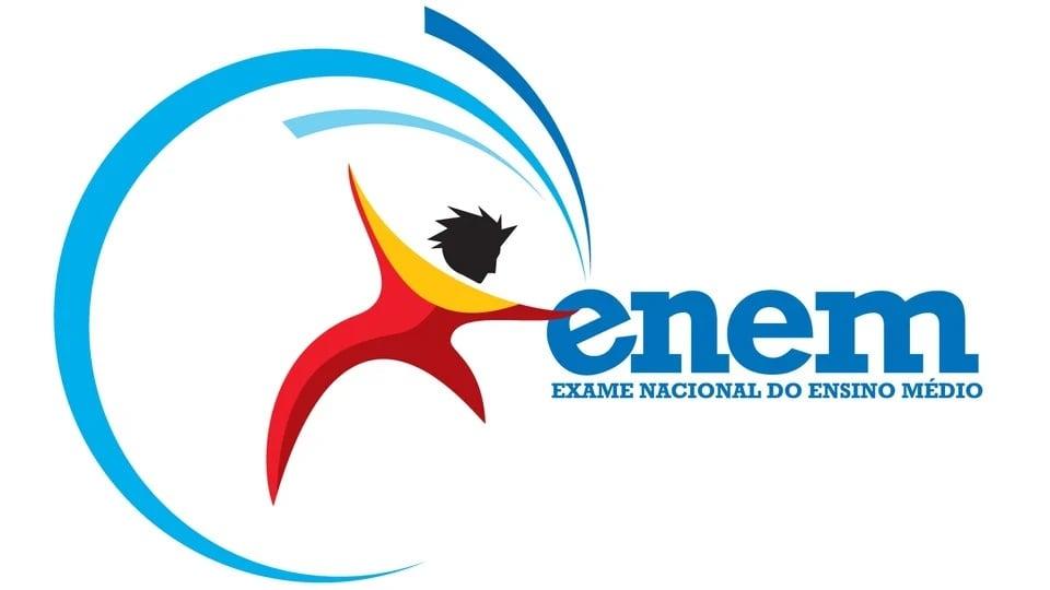Prazo para pedir isenção de taxa no Enem 2021: logo do exame nacional para ensino médio, o Enem