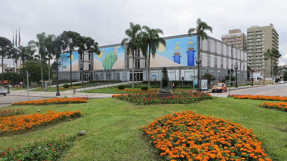 Processo seletivo Prefeitura de Curitiba - PR: fachada da sede da prefeitura de Curitiba