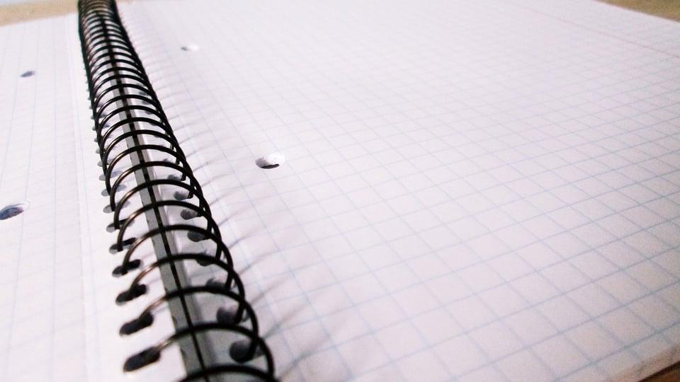 Prefeitura de Taquarituba: a imagem mostra caderno aberto
