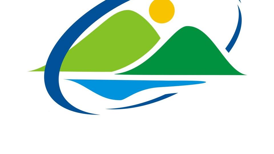 Processo seletivo CIGAMVALI - SC: a imagem mostra uma logomarca da Associação dos Municípios do Vale do Itapocu, circulo azul escuro, parte azul claro, figuras verde claro e verde escuro representando montanhas e uma bola alaranjada simbolizando um sol,