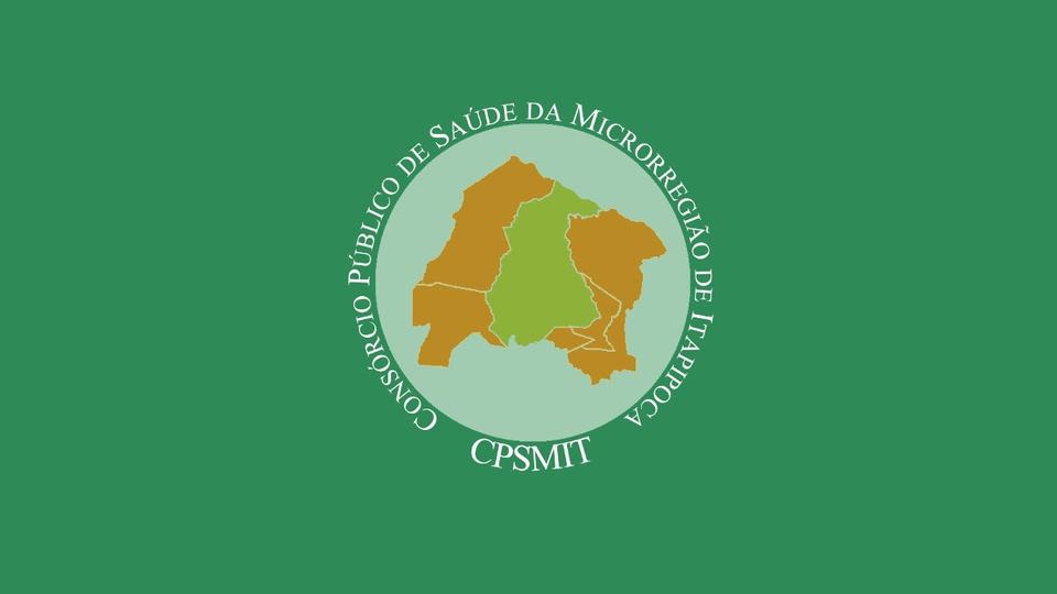 Processo seletivo CPSMIT Itapipoca - CE: edital e inscrição. A foto mostra a logo do Consórcio Público de Saúde da Microrregião de Itapipoca