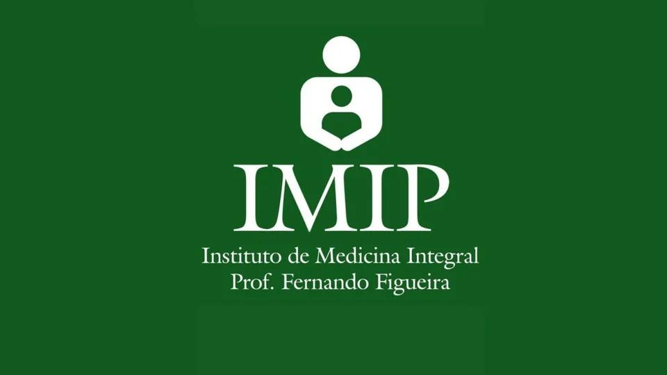 Processo seletivo IMIP MA: logo do IMIP em fundo esverdeado
