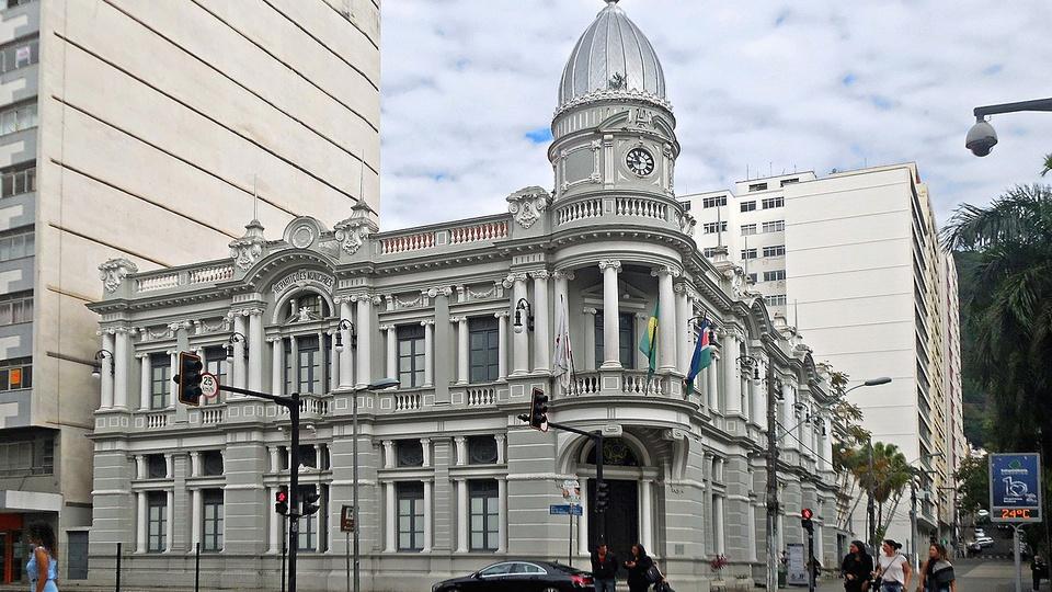 Processo seletivo Prefeitura de Juiz de Fora - MG: foto da fachada do paço municipal de Juiz de Fora, em Minas Gerais
