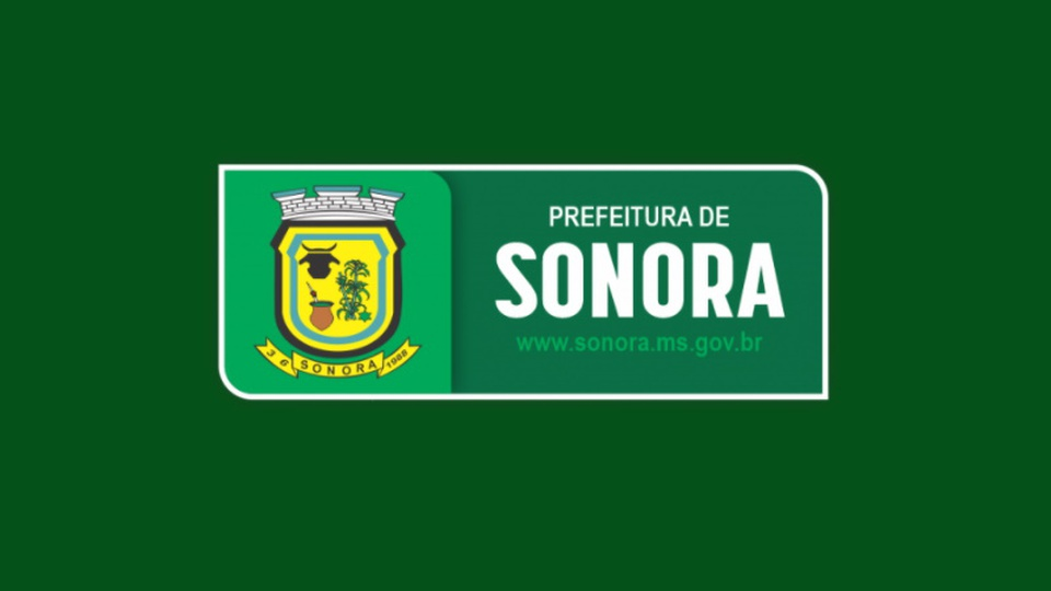 Processo seletivo Prefeitura de Sonora - MS: logo da Prefeitura de Sonora, do estado de Mato Grosso do Sul