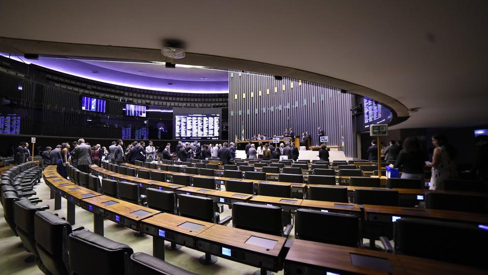 Concursos na Reforma Administrativa: interior de plenário do Congresso Nacional, em Brasília/DF