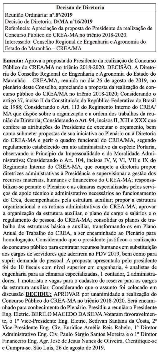 Reprodução do Diário Oficial do Maranhão